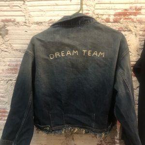 Fun Sandrine Rose Cropped Denim Jacket